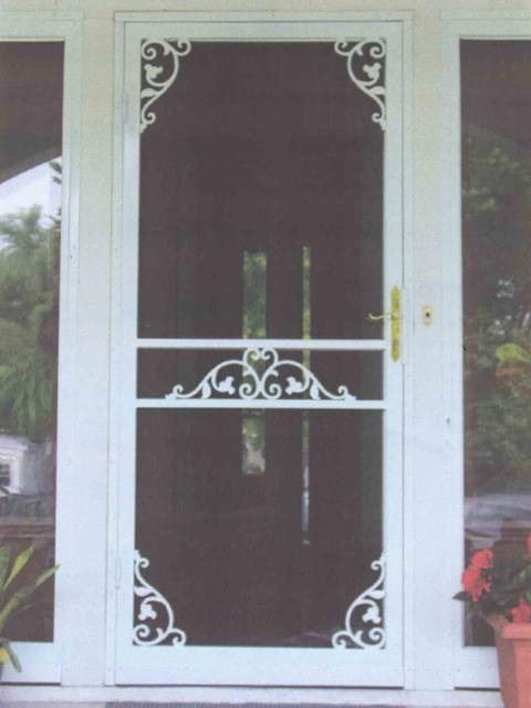 222 Steel Security Storm Door