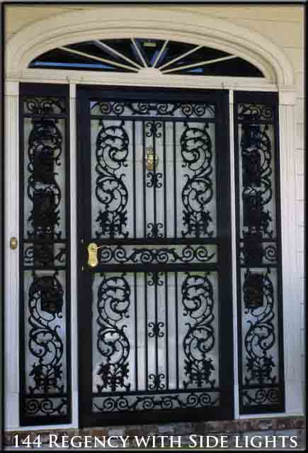 Secuirty Door Transoms And Sidelights