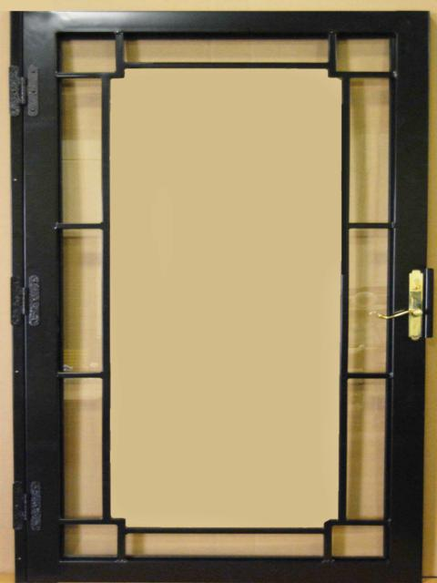 201 Steel Security Storm Door