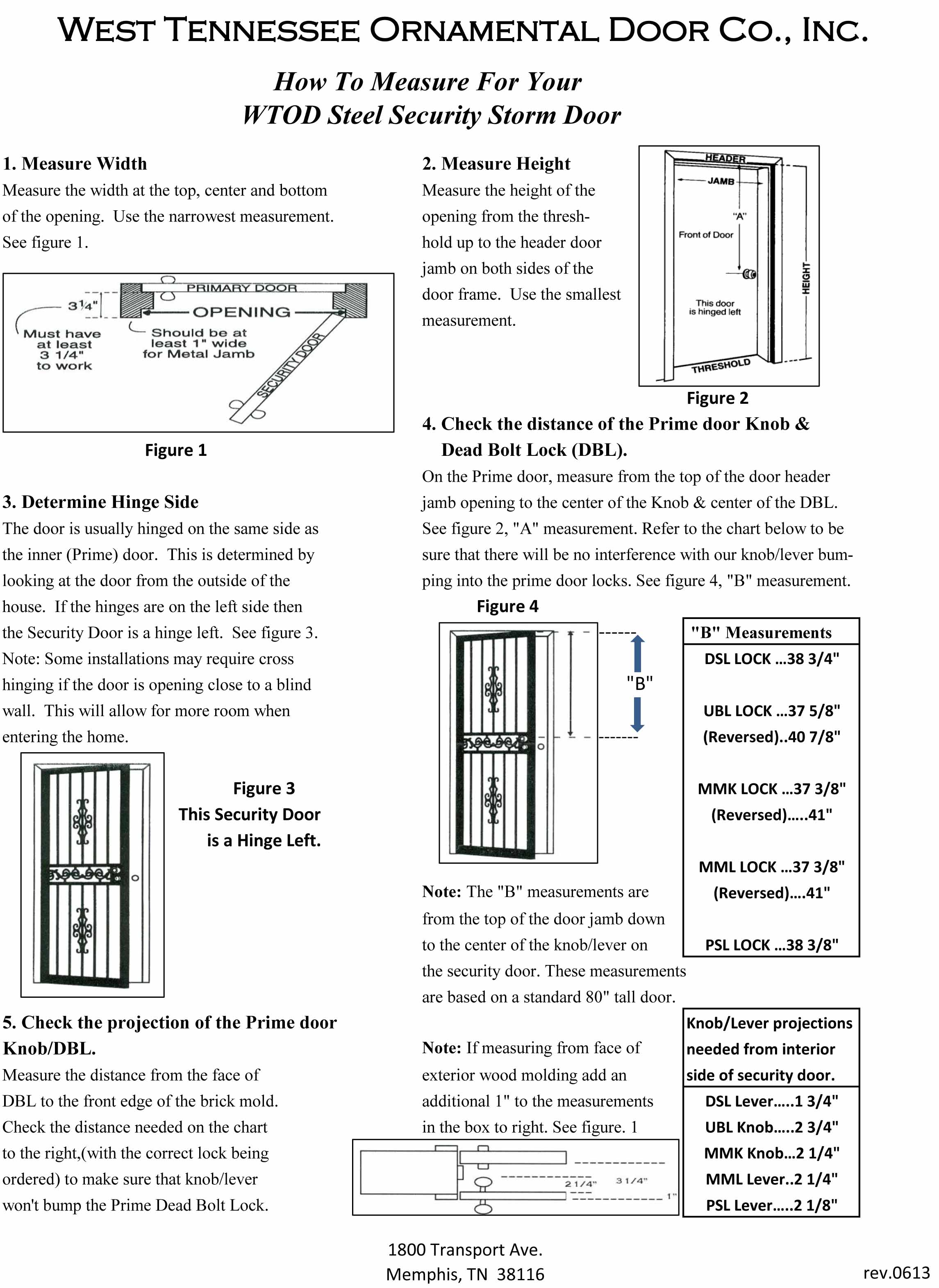 How to Measure a Single Security Door